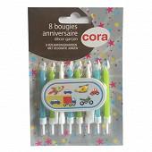Cora bougies bobèche avec pic garçon