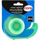 Cora  dévidoir avec un ruban adhésif invisible 25m