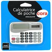 Cora calculatrice de poche 8 chiffres