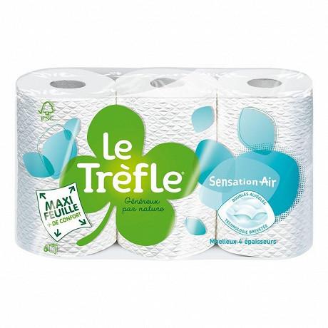 Le trefle papier de toilette sensation air 6 rouleaux