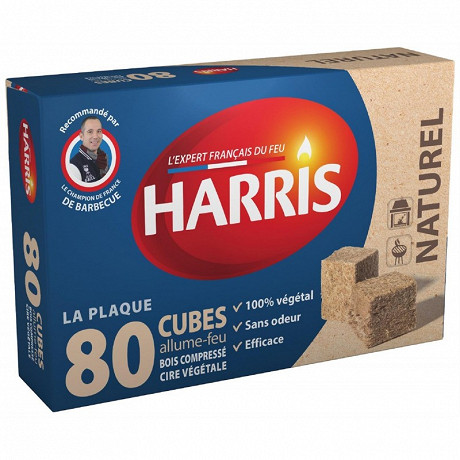 Harris 80 allume feux bois compressé naturels