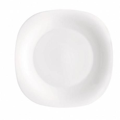 """Assiette dessert 19cm """"parma"""" opale carré"""