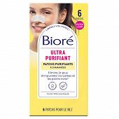 Biore 6 patchs ultra purifiants