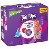 Huggies pull-ups jour jumbo filles 2-4 ans x25 (18-23kg)