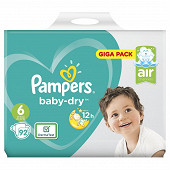 Pampers baby dry couches bébé t6 gigapack x92