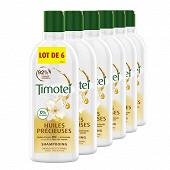 Timotei shampooing huiles précieuses argan bio, amande et extrait de jasmin 6x300ml