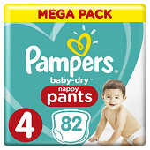 Pampers baby dry pants mega t4x82