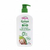 Love & green gel corps et cheveux sans parfum sans sulfate et bio 500ml