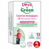 Love & green culottes hypoallérgéniques t4 x 20