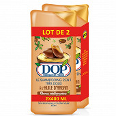 Dop shampooing 2en1 400ml huile argan reno 2017 lot de deux