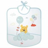Bavoir 1er age imprimé 28x32cm eva poche lacets Winnie Disney Baby