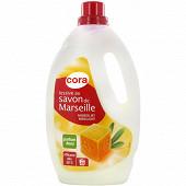Cora lessive liquide savon de Marseille 2.6l