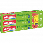 Alfapac film étirable 35m en lot de 3 (2 + 1 offert)
