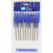 Stylo à bille 10 pièces bleu 85119