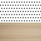 Serviettes x20 wabwood black 33X33cm 3 plis