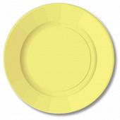 10 assiettes rondes 23cm pastel yellow