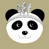 Serviettes x20 panda gold 33x33cm 3 plis