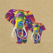 Serviettes x20 éléphant 33x33cm 2 plis