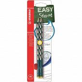 Blister 2 crayons graphite easygraph gauche hb - ardoise