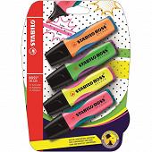 Blister 4 surligneurs stabilo splash - coloris assortis