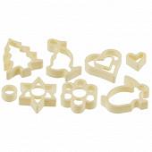 Emporte pièces plastiques par 8 décors assortis