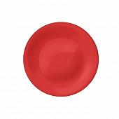 Assiette plate 26.8cm rouge new acqua en verre