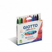 Giotto cera maxi etui crayons cire x12