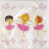 Serviettes x20 ballerines 33x33cm 2 plis