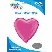 Ballon alu coeur rose 45cm