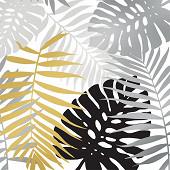 20 Serviettes 25X25 cm decorees 3 plis amazone or et noir