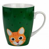 "Mug ""fish & cats"" 300 ml - 11,2*8,3*10,2cm - 6 designs  panachés ard'time"