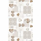 Nappe polyester rect 150x250cm sweet ecru