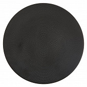 Assiette plate coloris caviar noir 27 cm