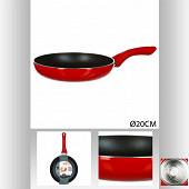 Poêle 20 cm essentielle rouge induction