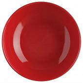 Assiette creuse rouge 22 cm
