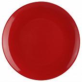 Assiette plate rouge 26 cm