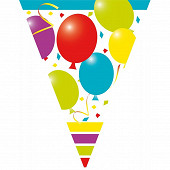 Guirlande jouyeux anniversaire 10 fanions