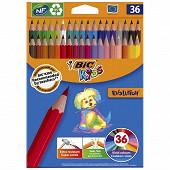 Crayons de couleur bic kids evolution pack de 36