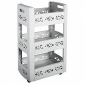 Résserre mobilo 3 étagères dont 1 modulable avec roulettes