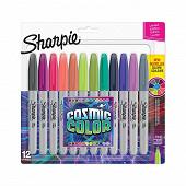 Sharpie 12 marqueurs fine, cosmic colors