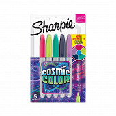 Sharpie - 5 marqueurs Sharpie Fine, Cosmic colors
