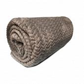Plaid imprimé 130x180 milano gris