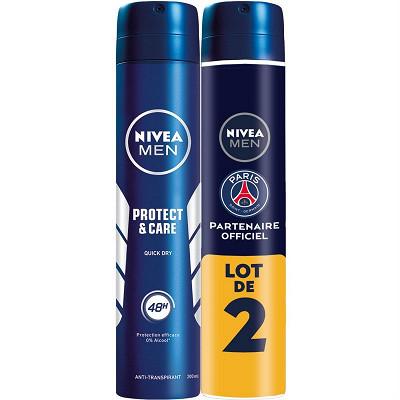 Nivea Nivea déodorant atomiseur homme protect&care 200ml lot x2