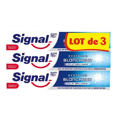 Signal Signal dentifrice systeme blancheur eclat brillance 75ml lot de 3