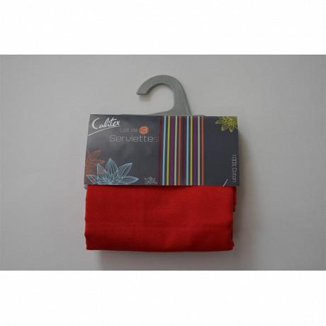 Lot de 3 serviettes de table rubis 44x44 cm