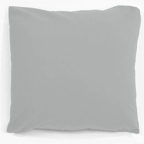 "Taie d'oreiller 63x63 ""uni 57 fils gris perle"""