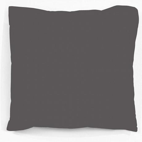 """Taie d'oreiller 50x70 """"uni 57 fils gris carbone"""""""