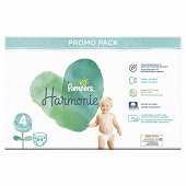 Pampers harmonie lot promo taille 4x 84