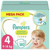 Pampers premium protection couches mega pack taille 4 80ct