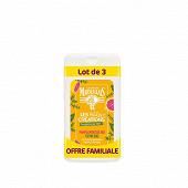 Le Petit Marseillais gel douche les petites créations pamplemousse bio &  thym bio 3x250ml